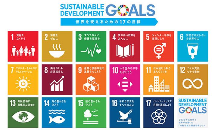 2015年9月に国連が掲げた「SDGs」。環境対策と同時に経済成長がうたわれている(国際連合の資料より)